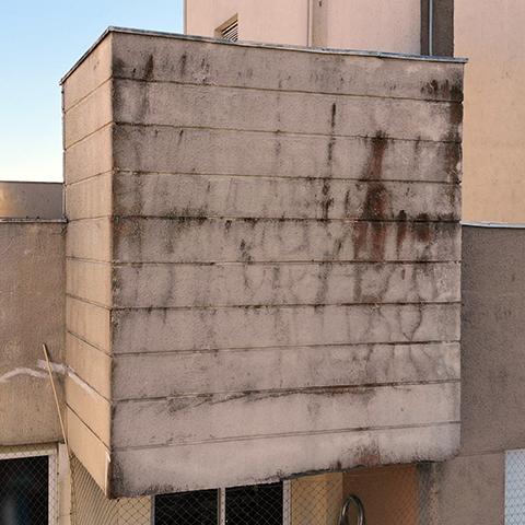 Fachada apartamento 1 detalhe na vistoria com drone