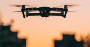 vistoria de vizinhança com drone